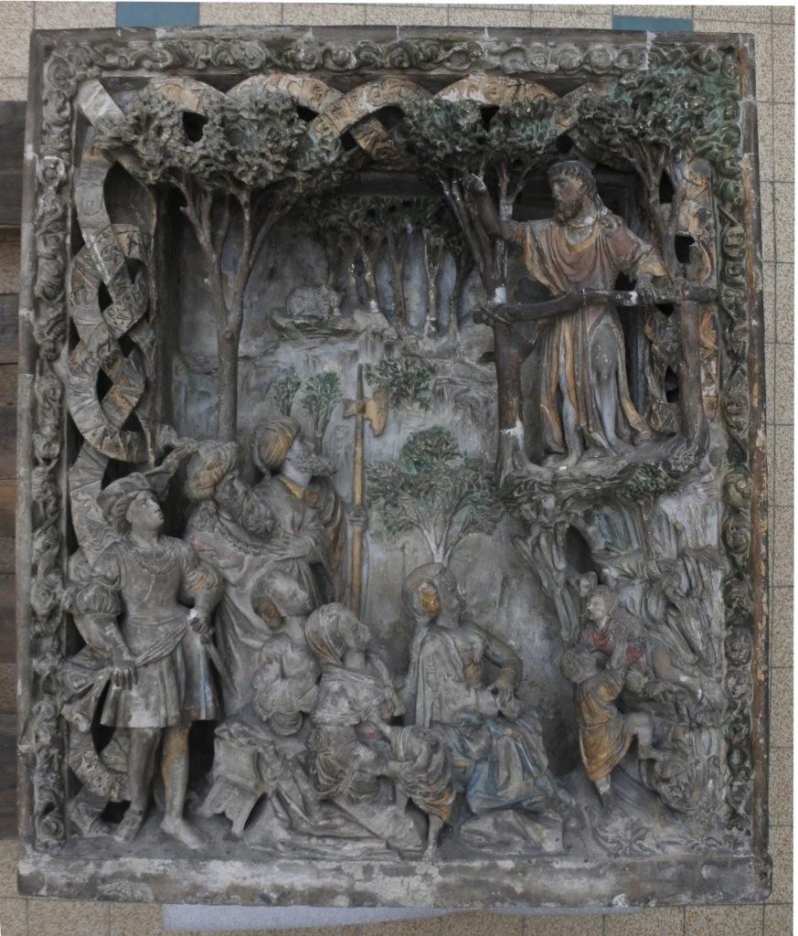 predication, pierre,plâtre, Laura Morel Conservation Restauration de sculptures : bois, plâtre, pierre, plastique, Auvergne Rhône Alpes, Jura, PACA, Bourgogne